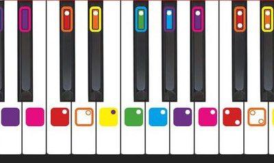 Kleurmuziek keyboard